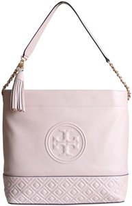 Tory Burch Leather Fleming Quilted Hobo Bag