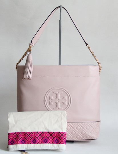 Tory Burch Leather Fleming Quilted Hobo Bag Image 1