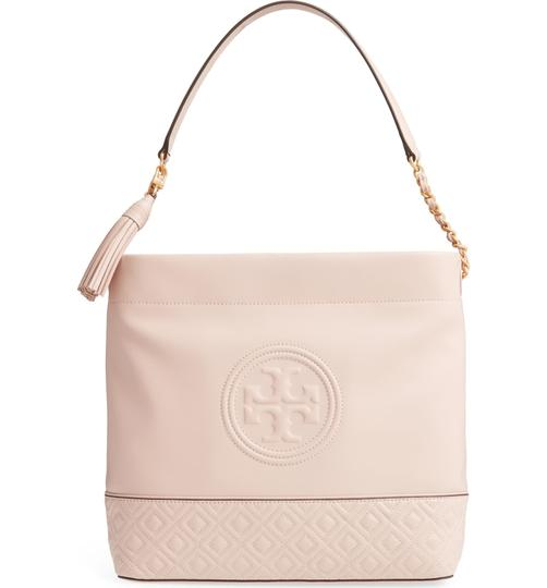 Tory Burch Leather Fleming Quilted Hobo Bag Image 11