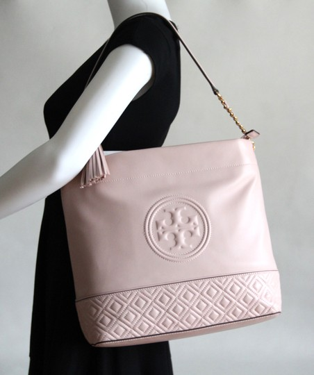 Tory Burch Leather Fleming Quilted Hobo Bag Image 2