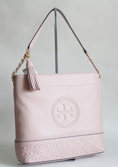 Tory Burch Leather Fleming Quilted Hobo Bag Image 3