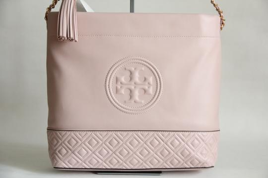 Tory Burch Leather Fleming Quilted Hobo Bag Image 4