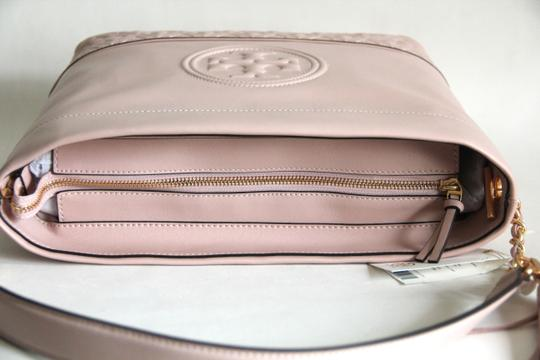 Tory Burch Leather Fleming Quilted Hobo Bag Image 6