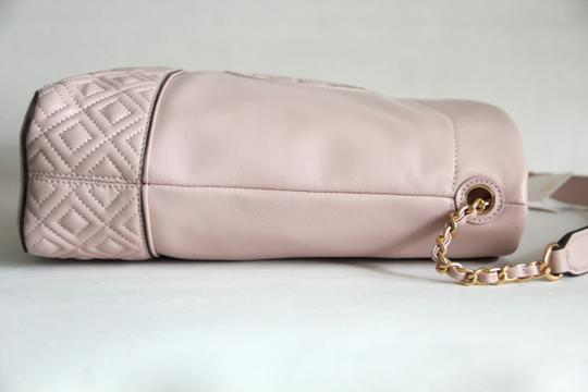 Tory Burch Leather Fleming Quilted Hobo Bag Image 7
