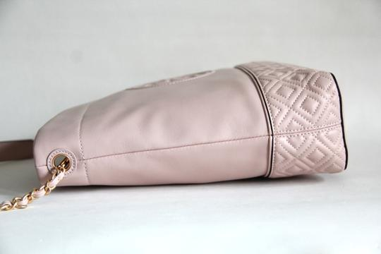 Tory Burch Leather Fleming Quilted Hobo Bag Image 8