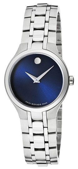 Preload https://img-static.tradesy.com/item/26668151/movado-blue-women-s-dial-stainless-steel-0606370-watch-0-1-540-540.jpg