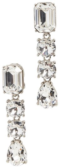 Oscar de la Renta Oscar de la Renta Signed Crystal Classic Drop Clip-On Earrings Image 0