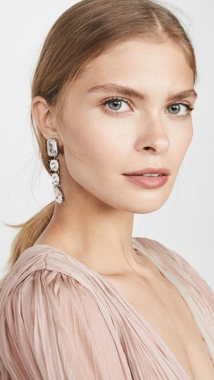 Oscar de la Renta Oscar de la Renta Signed Crystal Classic Drop Clip-On Earrings Image 1