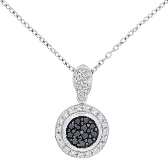 Item - Silver New .33ctw Round Cut Diamond Pendant Sterling Necklace