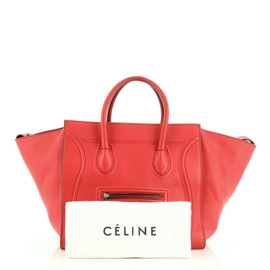 Céline Handbag Leather Tote in Red Image 1