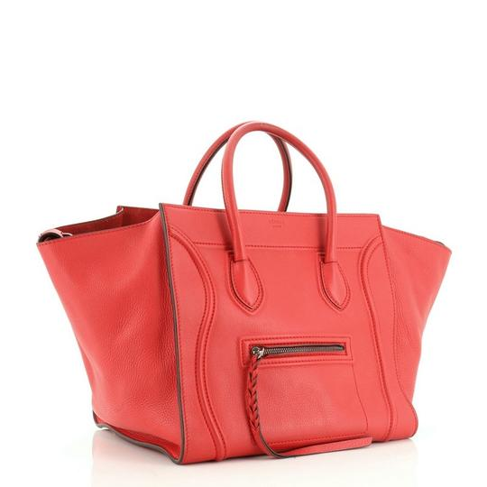 Céline Handbag Leather Tote in Red Image 2