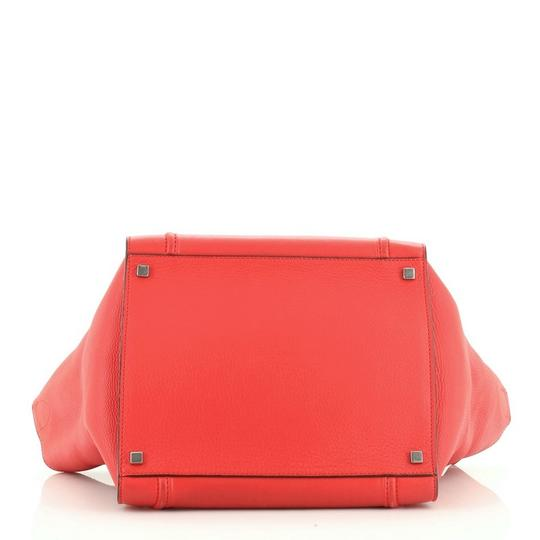 Céline Handbag Leather Tote in Red Image 4