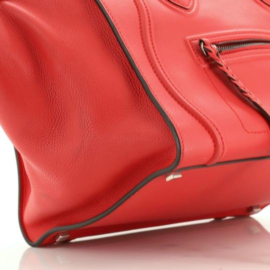 Céline Handbag Leather Tote in Red Image 6