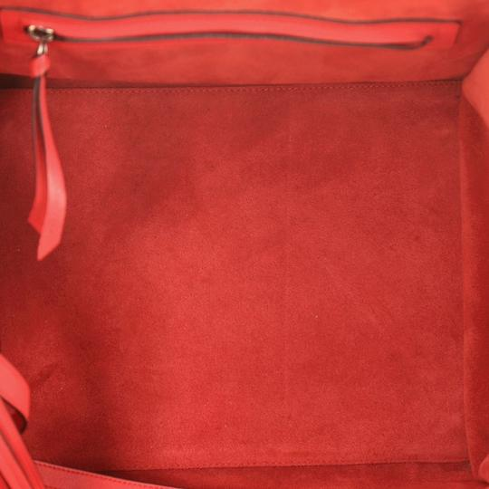 Céline Handbag Leather Tote in Red Image 7