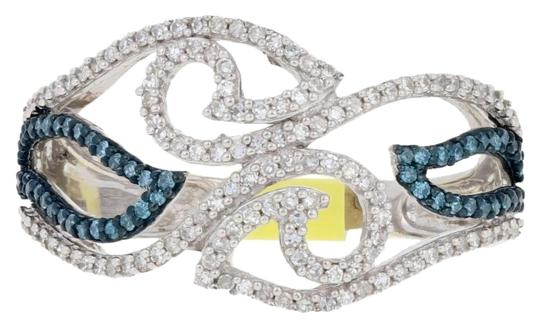 Preload https://img-static.tradesy.com/item/26668191/silver-new-33ctw-single-cut-blue-and-white-diamond-sterling-bypass-g6447-ring-0-1-540-540.jpg