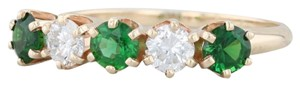 Other 1.14ctw Emerald Diamond Ring - 14k Size 8.5 Stackable Gemstone May