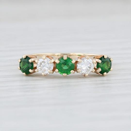 Other 1.14ctw Emerald Diamond Ring - 14k Size 8.5 Stackable Gemstone May Image 1