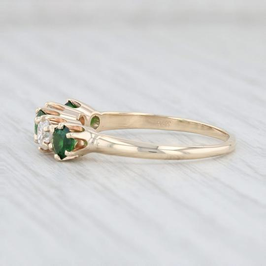 Other 1.14ctw Emerald Diamond Ring - 14k Size 8.5 Stackable Gemstone May Image 2