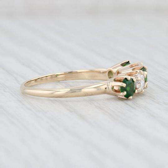 Other 1.14ctw Emerald Diamond Ring - 14k Size 8.5 Stackable Gemstone May Image 4