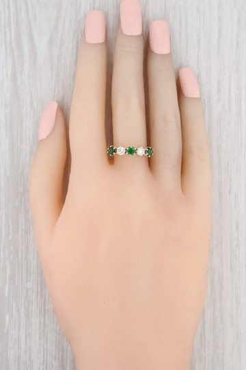 Other 1.14ctw Emerald Diamond Ring - 14k Size 8.5 Stackable Gemstone May Image 6