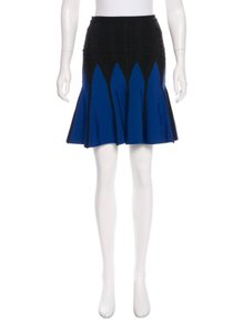 Hervé Leger Mini Skirt Blue-Black