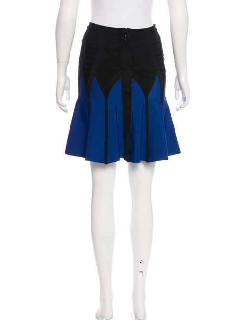 Hervé Leger Mini Skirt Blue-Black Image 2