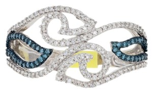 Wilson Brothers Jewelry NEW .33ctw Single Cut Blue & White Diamond Ring Sterling Bypass G6450