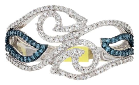 Preload https://img-static.tradesy.com/item/26668216/silver-new-33ctw-single-cut-blue-and-white-diamond-sterling-bypass-g6450-ring-0-1-540-540.jpg
