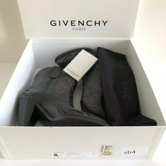 Givenchy Embroidered Western Cowboy Wings Black Boots Image 1