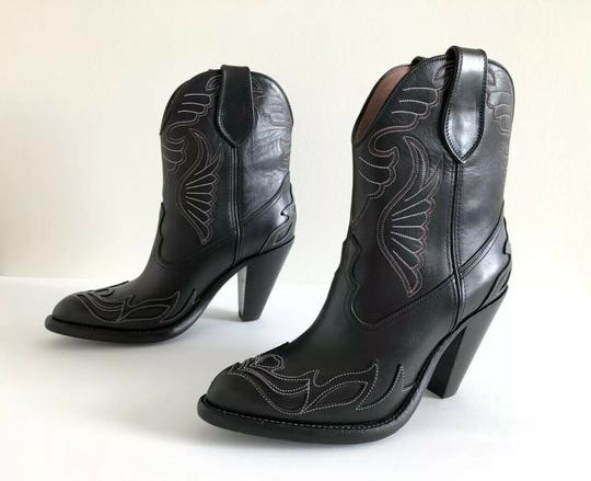 Givenchy Embroidered Western Cowboy Wings Black Boots Image 2