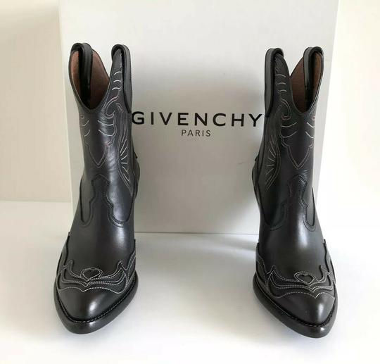 Givenchy Embroidered Western Cowboy Wings Black Boots Image 3