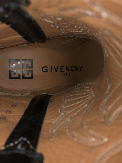 Givenchy Embroidered Western Cowboy Wings Black Boots Image 6