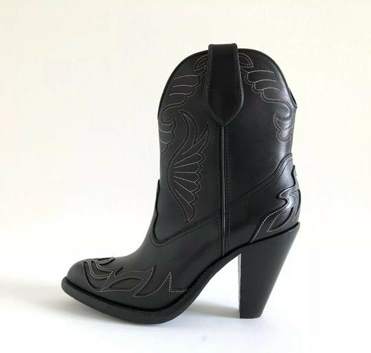 Givenchy Embroidered Western Cowboy Wings Black Boots Image 8
