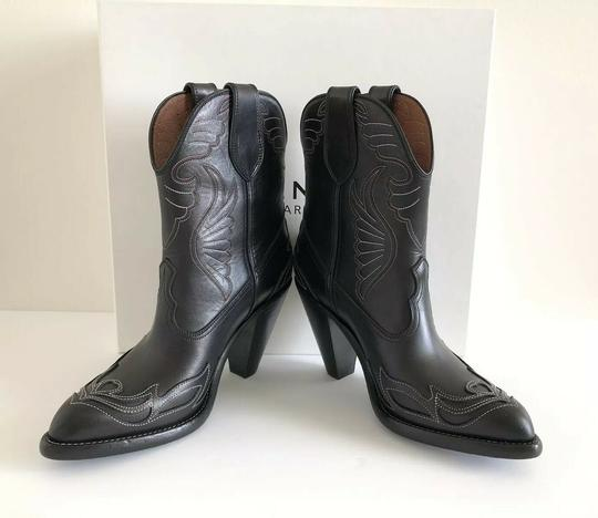 Givenchy Embroidered Western Cowboy Wings Black Boots Image 9