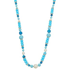 Kate Spade KATE SPADE • Azure Allure Turquoise Long Necklace