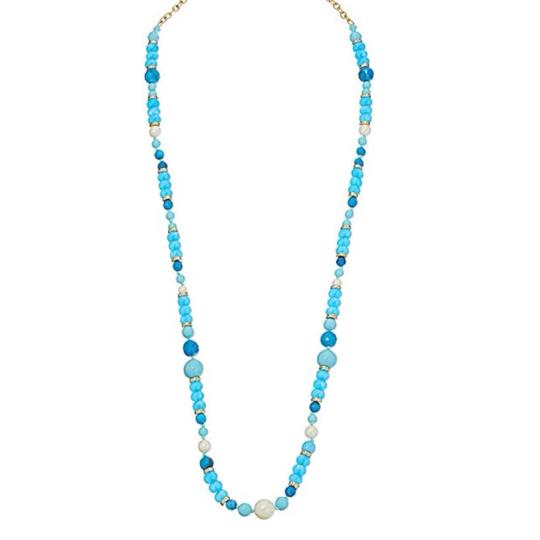 Kate Spade KATE SPADE * Azure Allure Turquoise Long Necklace Image 1