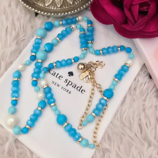 Kate Spade KATE SPADE * Azure Allure Turquoise Long Necklace Image 4