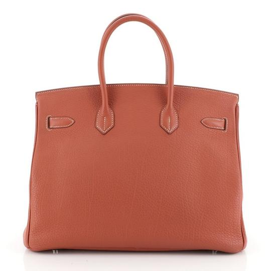 Hermès Handbag Leather Tote in Sanguine (Red) Image 2