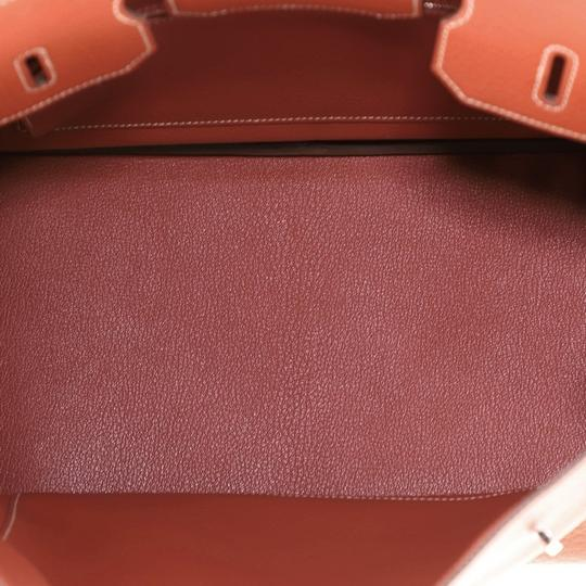 Hermès Handbag Leather Tote in Sanguine (Red) Image 4