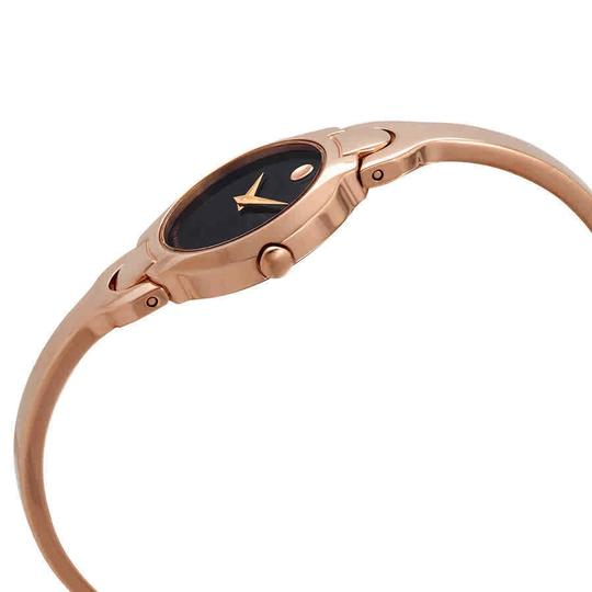 Movado MOVADO Women's Kara Black Dial Rose Gold-tone Watch 0607327 Image 1
