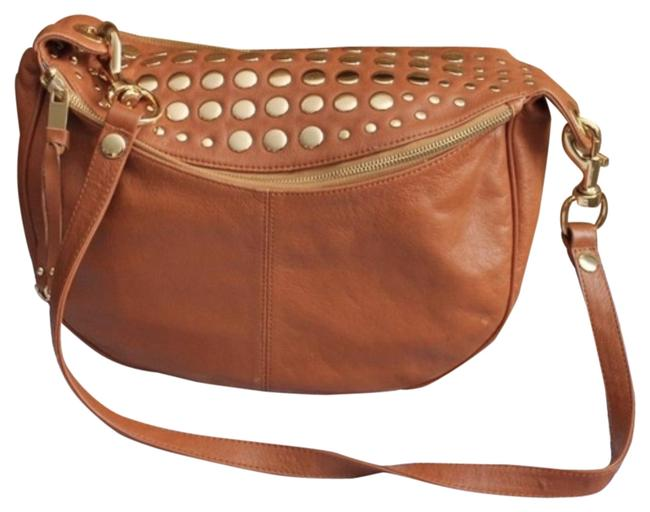 Item - Roadie Chestnut Leather Brass Cross Body Bag