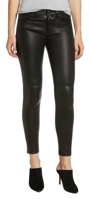 Item - Black Red The Stiletto Ankle Lambskin Leather Pants Skinny Jeans Size 29 (6, M)