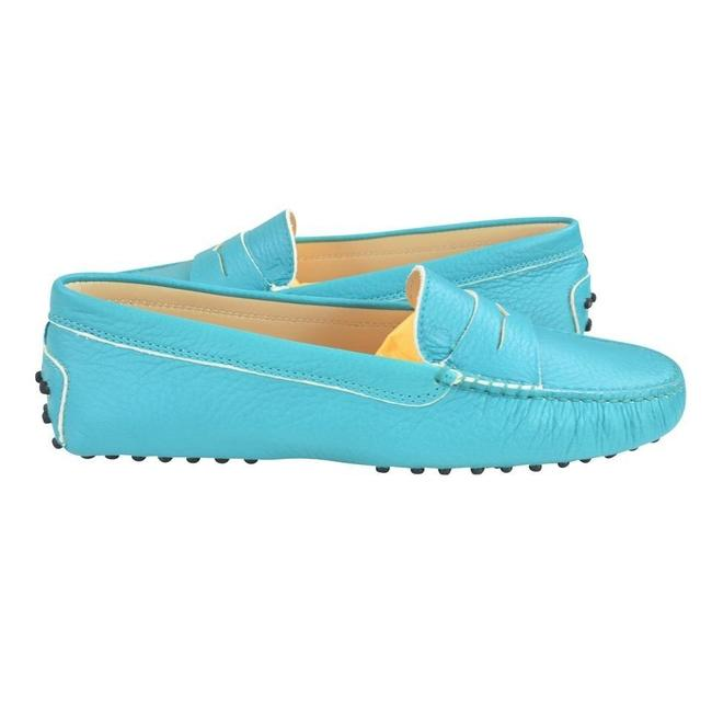 Item - Turquoise Gommini Moccasins Leather Loafers Flats Size US 8 Regular (M, B)