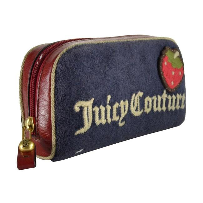Item - Strawberry Navy Terry Pouch Cosmetic Bag