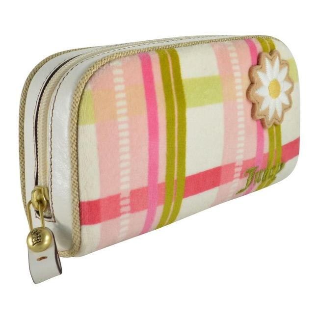 Item - Plaid Daisy Flower Pink Terry Pouch Cosmetic Bag