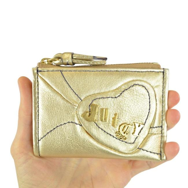 Item - Gold Leather Heart Coin Purse Mini Wallet