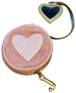 Juicy Couture Suede Circle Leather Heart Cross Body Bag