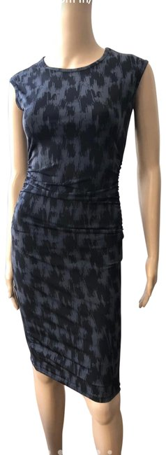 Item - Dark Grey Black Stretch Mid-length Night Out Dress Size 00 (XXS)