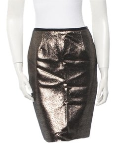 Tory Burch New With Tags Skirt Metallic Bronze