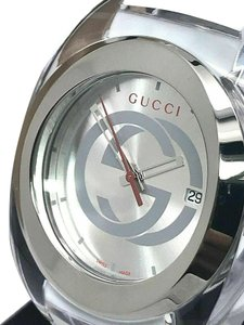 Gucci GUCCI SYNC YA137102 White Rubber Band 46mm Clear Case Swiss Mens Watch